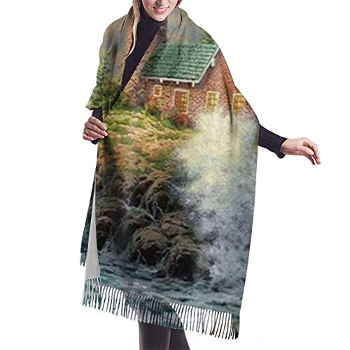 Bufandas Abrigo Chal Warm Women Blanket Scarf Coast Waves An