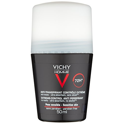 Laboratorios de Vichy Homme 72hr extrema anti-Perspirant Desodorante Roll-On para piel sensible 50 ml