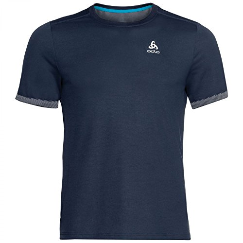 Odlo T- Shirt MC Nikko F-Dry Light Homme, Diving Navy, FR : M (Taille Fabricant : M)