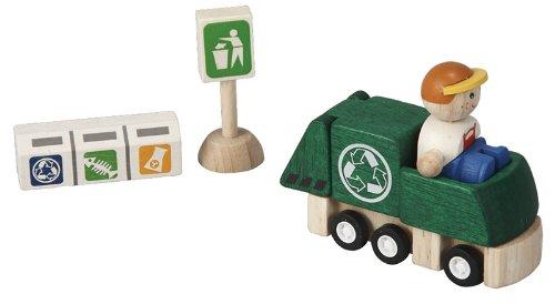 Plantoys - PT6243 - Figurine - Transport et Circulation - Kit Camion de Recyclage
