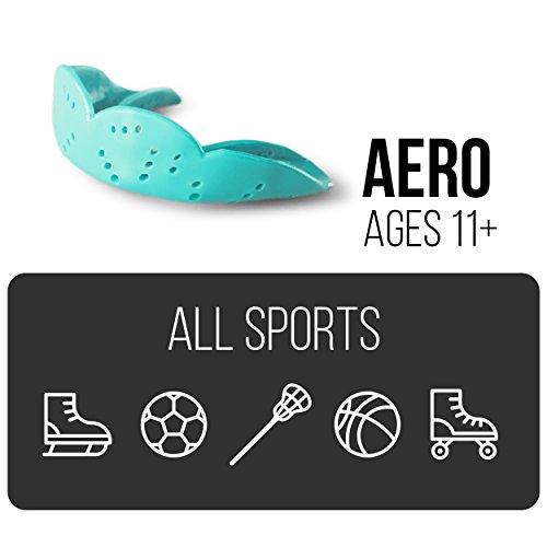 SISU Mouth Guards Aero 1.6mm Custom Fit Sports Mouthguard for Youth/Adults, NextGen