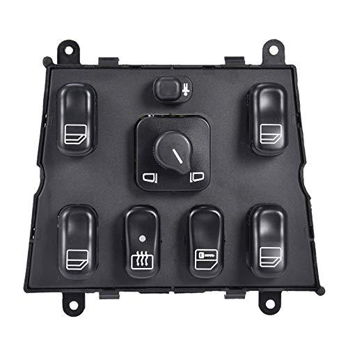 Elektrischer Fensterschalter, A1638206610 Fensterheber Schalter Kompatibel für Mercedes Benz W163 ML230 ML270 ML320 ML430 ML500 ML 55 1998-2005 03751566