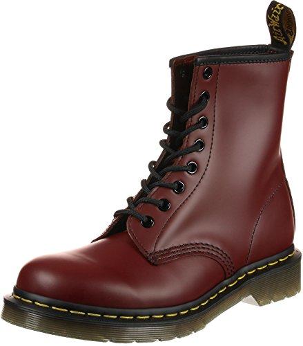 Dr. Martens 1460 - Botas Militares de Mujer, Rojo (Cherry Red Smooth), 39 EU