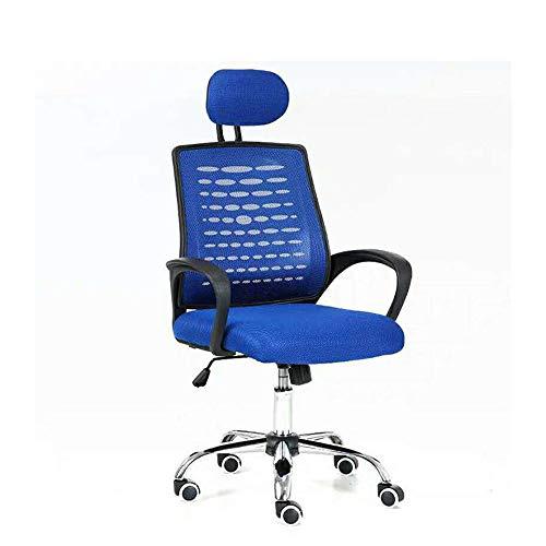 Inicio Silla de oficina Silla cómoda y simple elevación silla de oficina con silla de la computadora de la cintura soporte y reposabrazos silla del acoplamiento Conferencia Oficina Silla de juegos