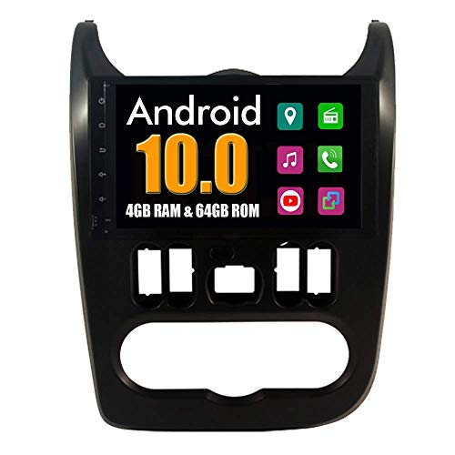 Sistema Android Autoradio per Renault Duster Dacia Logan Sandero Dokker Lodgy 2008-2012 con Multimedia Radio Stereo Navigazione GPS Bluetooth USB Mirror Link