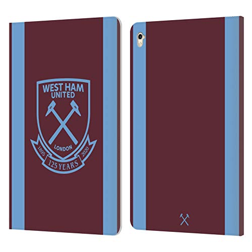 Official West Ham United FC Home 2020/21 Crest Kit Leather Book Wallet Case Cover Compatible For Apple iPad Pro 9.7 (2016)
