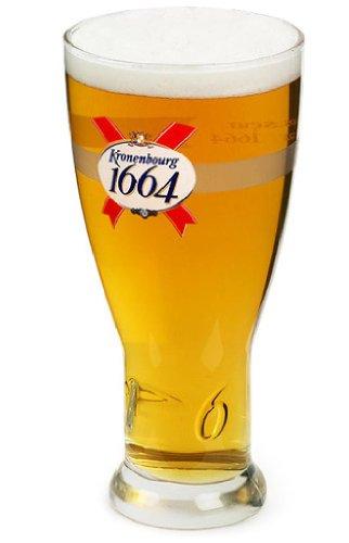 Vaso de cerveza de 20 oz marca oficial Kronenbourg 1664 marca CE