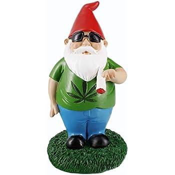 Pride Accessory Gnometastic Smoking Gnome Indoor Outdoor Garden Statue, 8.5 Inches