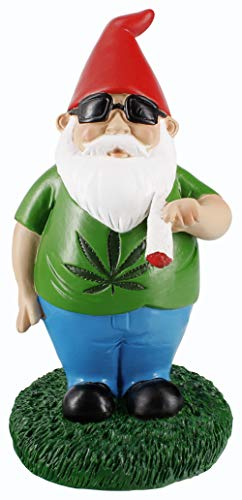 "Gnometastic Smoking Gnome Indoor Outdoor Garden Gnome Statue, 8.5"" inches"