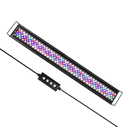 hygger Advanced Full Spectrum LED Aquarium Light with 24/7 Lighting Cycle 6 Colors 5 Intensity Customize Fish Tank Light for 36-42 in Freshwater Planted Tank with Timer