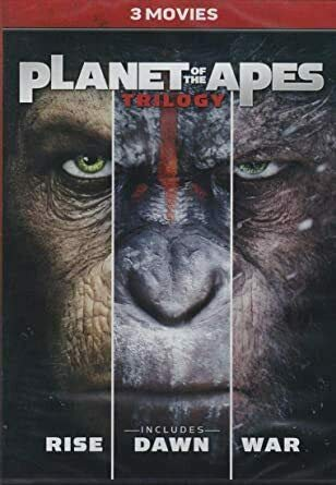 Planet of the Apes Trilogy - 3-Movie Collection (Rise/Dawn/War) 2011, 2014, 2017)