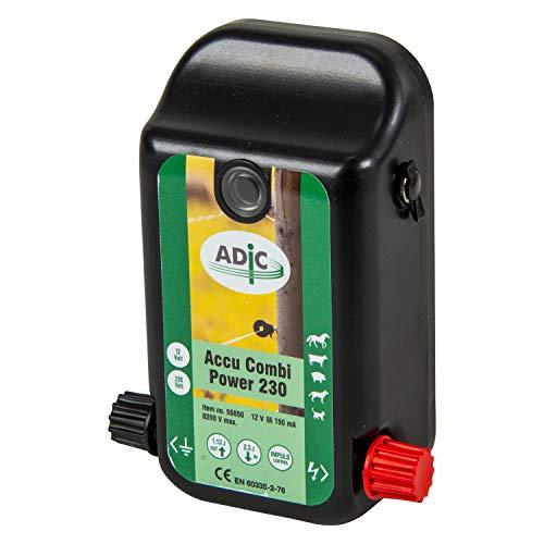ADIC Weidezaungerät 12V / 230V Accu Combi Power 230, Batteriegerät, Netzgerät, für Weidezaun, Weidezaungerät 230v, Elektrozaun, elektrischer Weidezaun