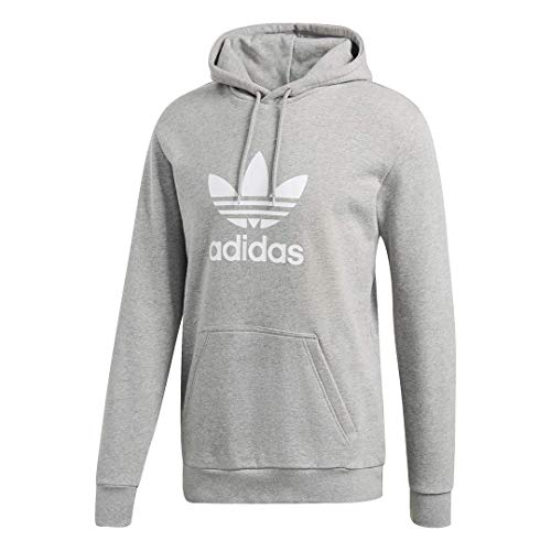 adidas Originals mens Trefoil Hoodie Medium Grey Heather Medium
