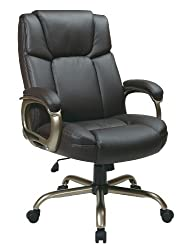 Big And Tall Leather Office Chairs 350 Lbs Capacity