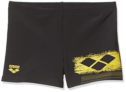 ARENA Jungen Badeshorts Scratchy Badehose, Black-Yellow Star, 140