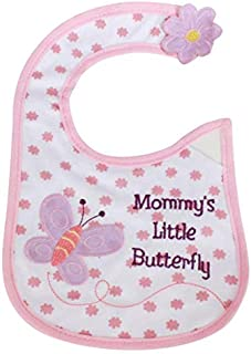 Babies Bloom Pink Mommy s Little Butterfly Waterproof Saliva Bib