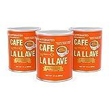 Cafe La Llave Decaf Espresso Dark Roast Coffee (3 x 10 oz Cans)