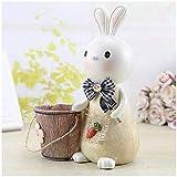 YLLAND Creative Resin Rabbit Piggy Bank And Pen Holder Multi-Function Coin Bank Carino Desktop Decorazioni per Bambini Ragazzi Ragazze Regalo Salvadanaio (Colore: B) LNNDE (Color : B)