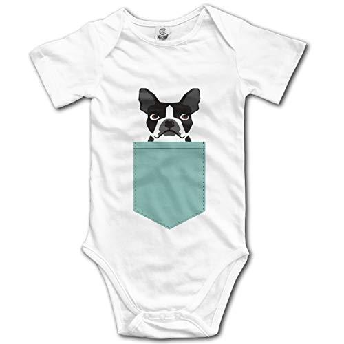 M MORBO Boston Terrier and French Bulldog Cute Baby Boys Girls Onesie Bodysuit Infant Romper Jumpsuit White