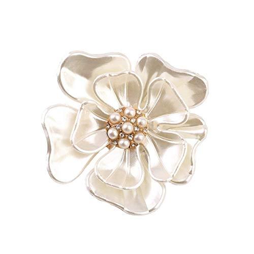 CHOUCHOU Colgante Pendientes Broches de la Flor Shell Forma simulada Cosecha de Perlas Broche joyería de imitación de Las Mujeres Shell aleación de la Perla