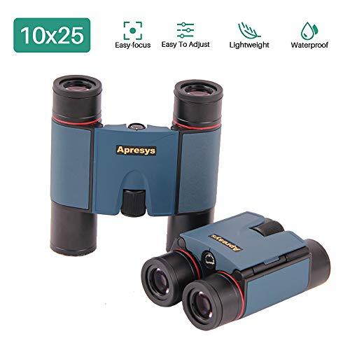SSeir Plegable Mini Bolsillo Prismáticos, 10X25 Compacto Prismáticos Ligero Telescopio con Impermeable Anti Niebla para Adultos/Niños/De Viaje/Turismo/Ornitología
