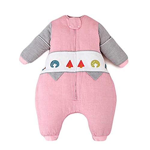 Baby Winter Deken voor kinderwagens Baby Slaapzak Katoen Ergonomisch Dun Draagbare Slaapzak Peuters Pyjama voor Vier Seizoen (Kleur: Grijs Maat : M) X-Large Grijs