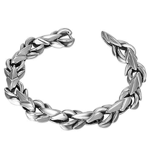 Pulsera Hombre-Pulsera Plata 925 Clásico Jewelry Retro Accesorios Hombre con Exquisita Caja Regalo