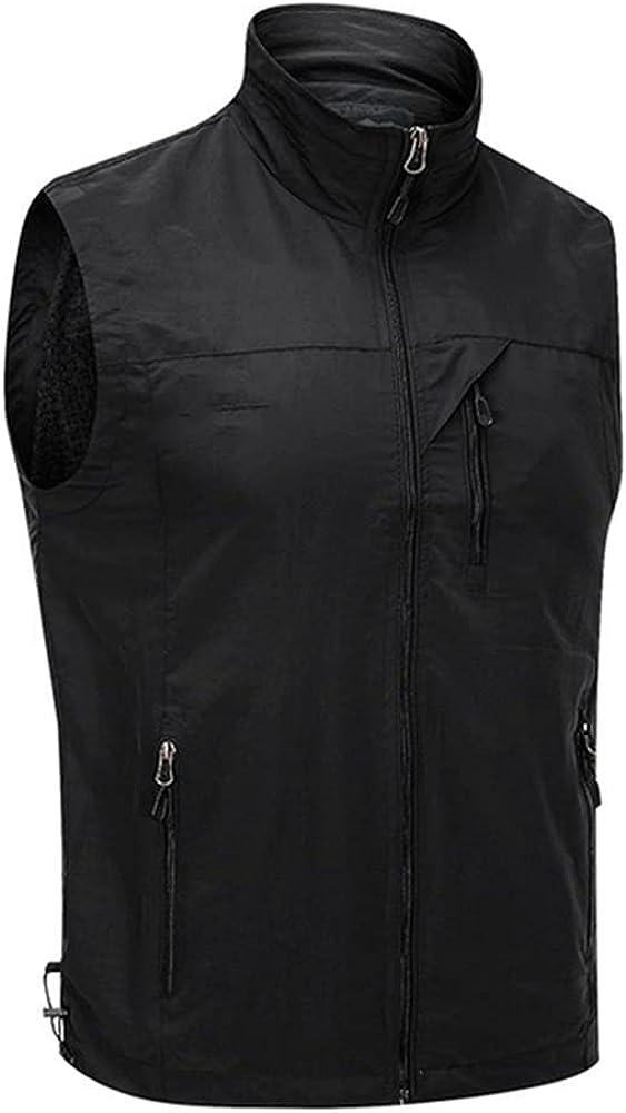 Men's Sleeveless Vest Outdoor Coat Summer Collar Vest