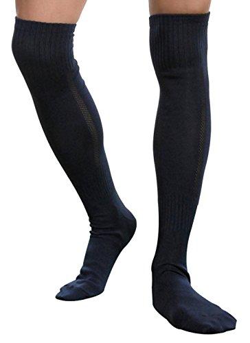 Socks Knee High Basketball Socks Men Long Soccer Hockey Baseball Athletic Hose (New Black)