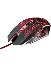 Trust Gaming GXT 105 Izza Gaming Muis Mouse (800-2400 dpi, LED verlichting, 6 Knoppen) Zwart