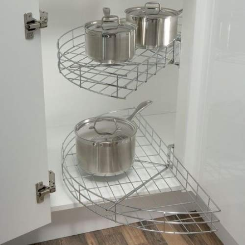 KDWC - Carrusel semicircular para armario de cocina (para puerta de anchura mínima 420 mm)