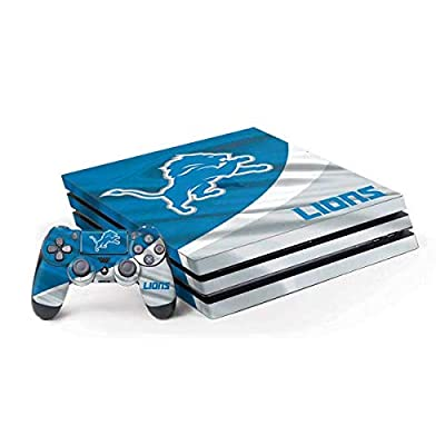 Skinit Decal Gaming Skin for PS4 Pro Console and Controller Bundle - Officially Licensed NFL Detroit Lions Design
