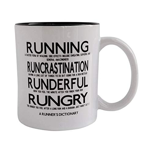 Worry Less Design A Runners Dictionary – Lustige Tasse, Geschenk für Läufer, Running Gifts, Running Mugs, Runner Mugs, Marathon Mugs