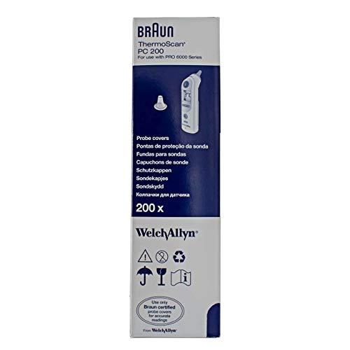 Braun T1010 / 2020 Ersatzschutzkappen für Braun Thermoscan Thermometer, 200 Stück