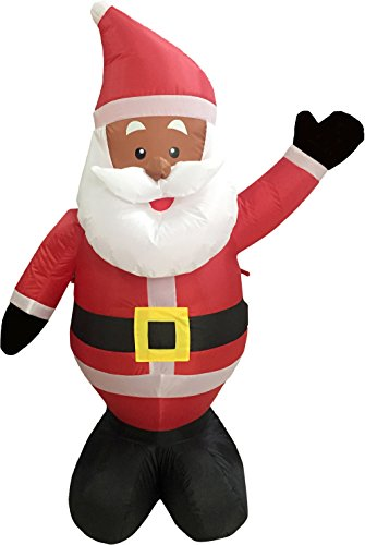 Nicky Bigs Novelties 48 Inch Ethnic Santa Holiday Inflatable Yard Decoration, Multicolor