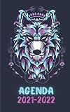 Agenda 2021-2022: Cahier de Texte Scolaire Garçon pour Lycée Collège Étudiant ou École Primaire Thème : Loup geek