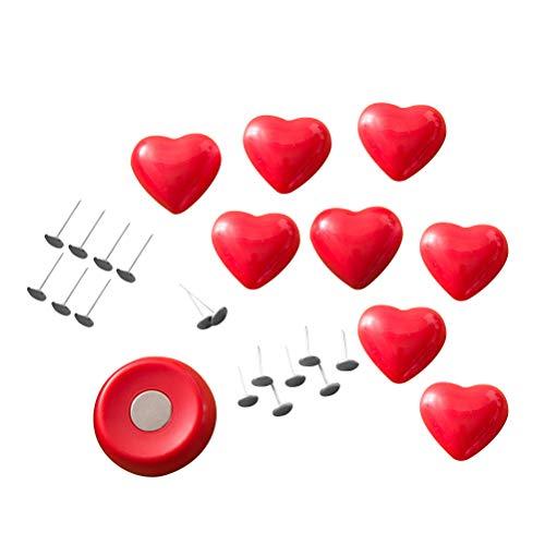 LIOOBO Bettdeckenhalter Bettbezug Schöne Fixierer Clip rutschfeste Clips Nette Bett Schnalle Dekorative Blatt Verschluss Greifer (Rotes Herz)