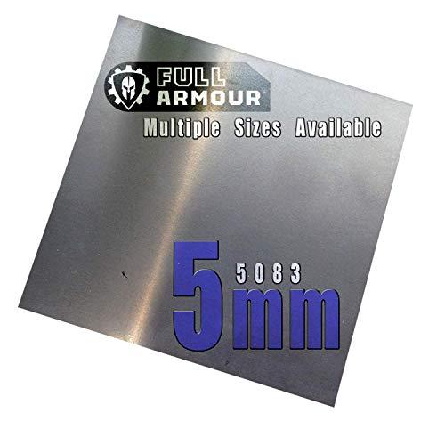 BuyAluminium 5083 - Placa de aluminio (5 mm), 100mm x...