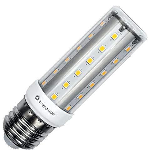 HQI E27 Tubular LED 10 W 360° 4000 K 1100 lm IP40 ricambio per lampada alogena a vapore in metallo