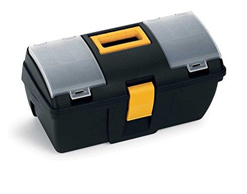 TERRY 161 C - Cassetta portautensili piccola con vassoio e organizer trasparente - Misure: 39.3X18.9X20 cm