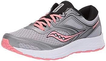 Saucony Women s VERSAFOAM Cohesion 12 Road Running Shoe Silver/Pink 8.5 M US