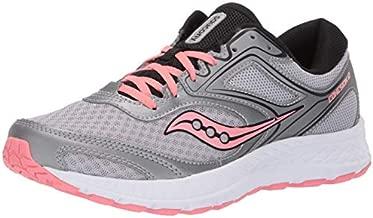 Saucony Women's VERSAFOAM Cohesion 12 Road Running Shoe, Silver/Pink, 9.5 M US