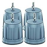 Almohadillas de lavado de amortiguadoras de amortiguador Pies silenciosos universales Almohadillas anti-vibraciones Altura 10cm Reducir la lavadora de ruido PIEZA PAD PAD PAD PAD PADR ANTILICE FRIGHGE