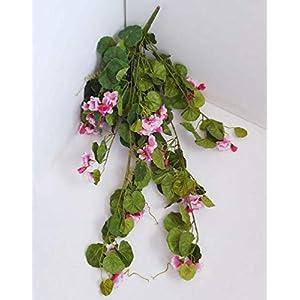Artificial Flower Bush Vine Begonia Pink Garland Get One Bunch Flowers Bush No Basket Included- Artificial Succulents #PL201YN
