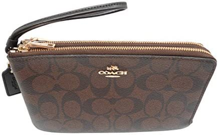COACH Signature PVC Double Zip Wallet