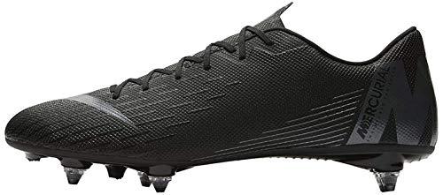 Nike Vapor 12 Academy SG, Scarpe da Ginnastica Basse Unisex-Adulto, Nero (Black/Black 001), 41 EU