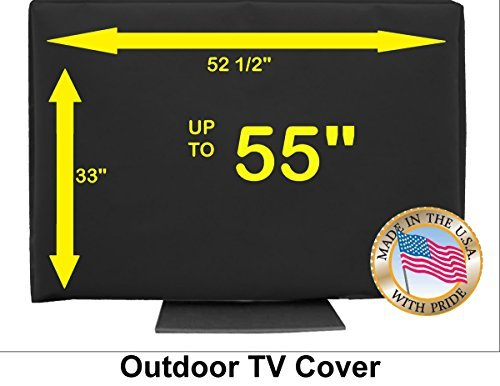 55' Outdoor TV CoverTop Premium Quality Weather Resistant Soft Non Scratch Interior Made in USA (Televisions up to 60')
