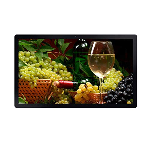 Black 32 inch Large Size HD LED Screen 19201080 HD Video Player Wall Mounted Digital Photo Frame Advertising Player