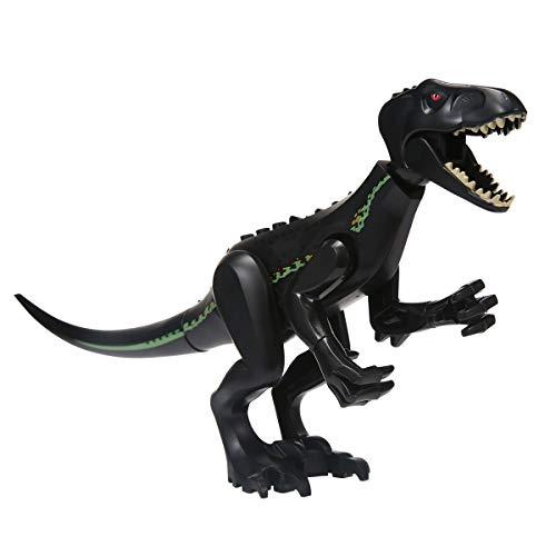 Womdee Dinosauro giocattolo a blocchi di costruzione, mini dinosauro, gioco per bambini Nero