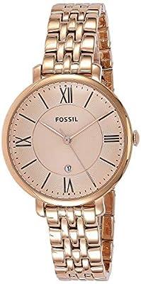 Fossil ES3435 - Reloj de cuarzo para mujer, con correa de acero inoxidable chapado, color dorado